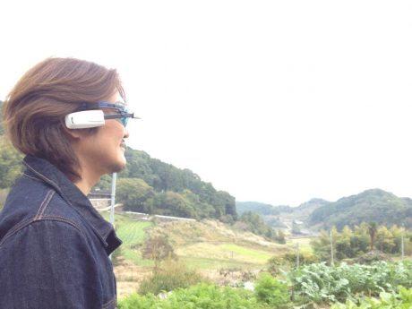 「ミミミル」視覚障害者の方がメガネ型のウェアラブルカメラを使って撮影、内容が音声で耳に届く