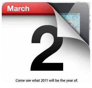 iPad2発表イベントは3/2 Appleが招待状送付【湯川】