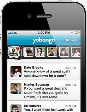 近くにいる人とリアルタイムチャットを可能にするスケスケ社会アプリ「Yobongo」が地区限定で登場 【増田(@maskin)真樹】