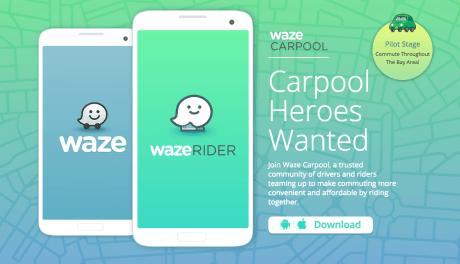 ソーシャルカーナビ「Waze」が米ベイエリアで相乗りサービスを開始 @maskin