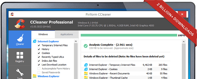 人気ソフト「CClearner」正規版にまさかのマルウェア混入