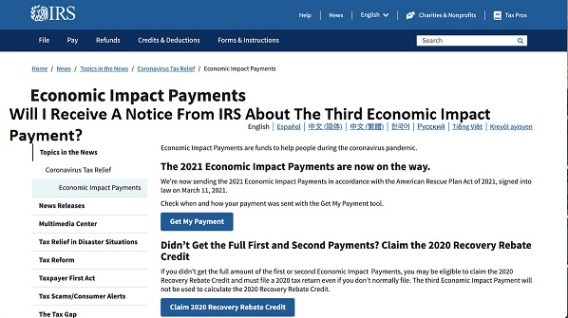 Will I Receive A Notice From IRS About The Third Economic Impact Payment?