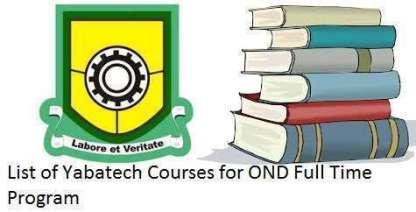 Yabatech courses