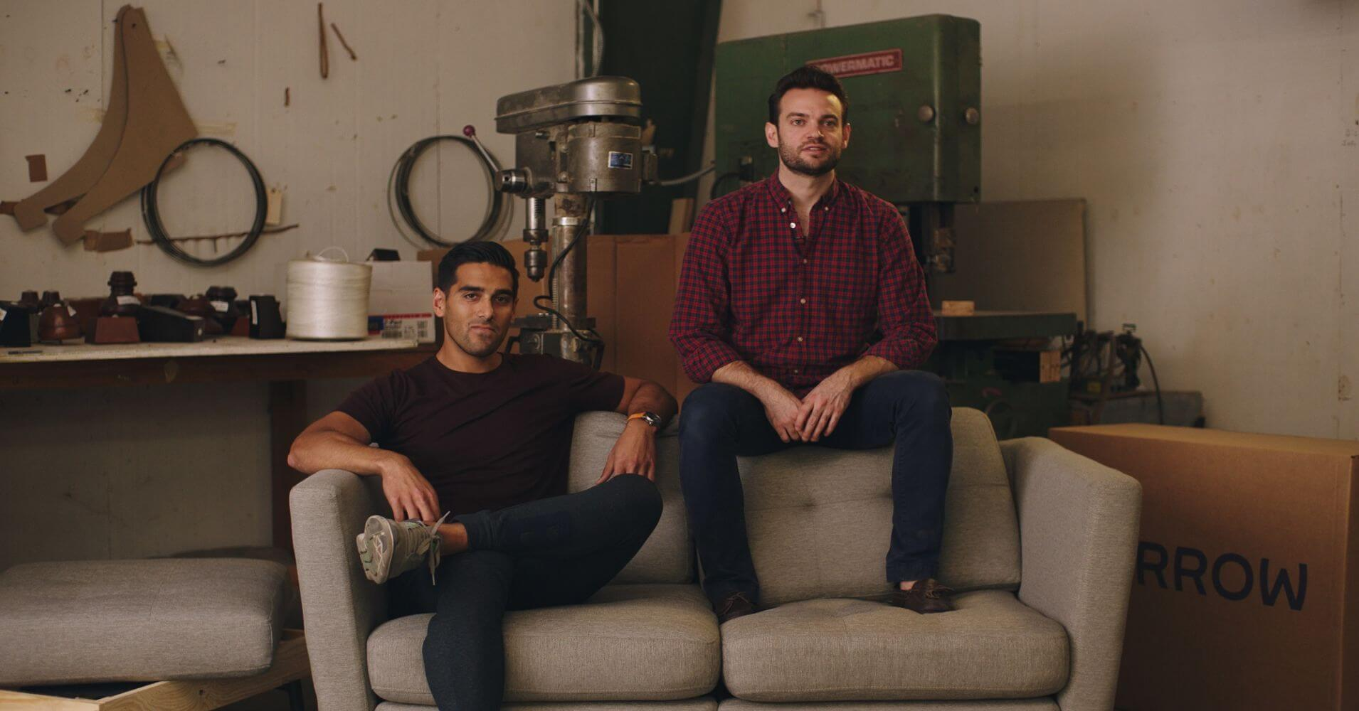 Kabeer Chopra (left) and Stephen Kuhl (right), co-founders of Burrow.