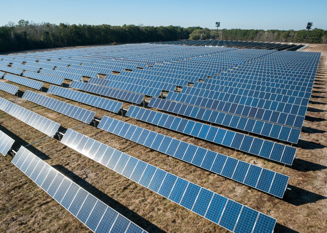Adrich - rows of solar panels