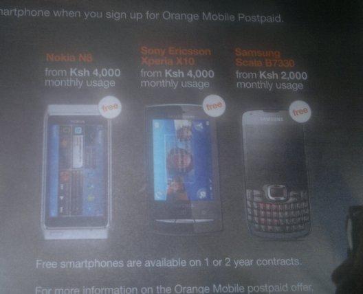 orange phone contract