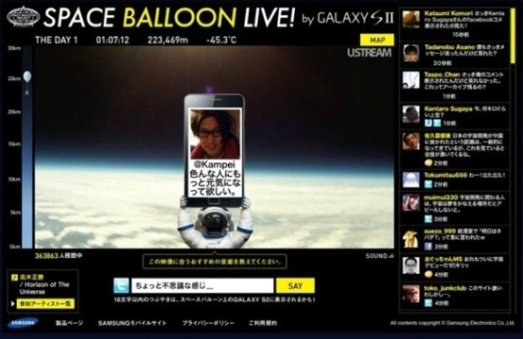 Samsung galaxy S II space