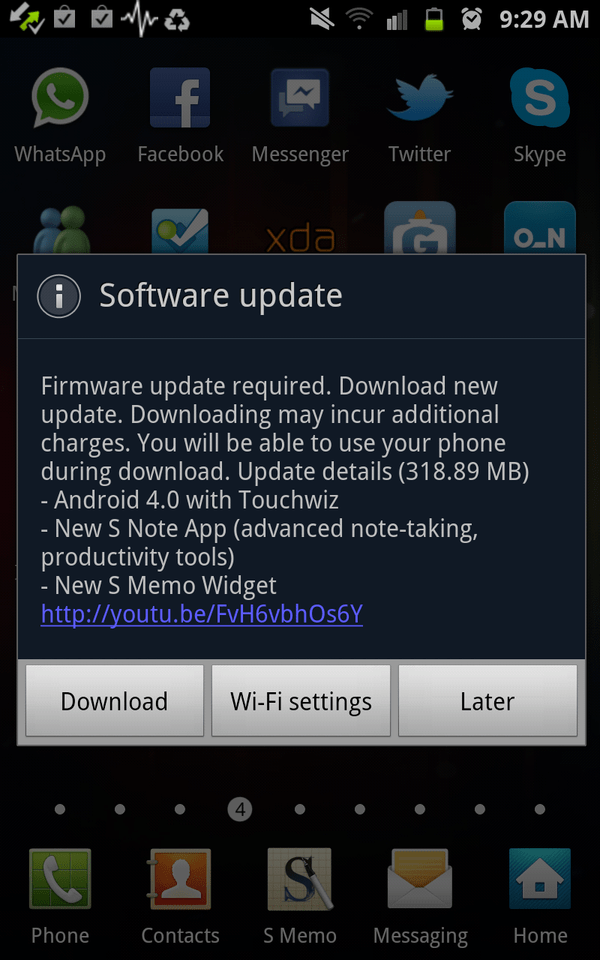 roll out for android ice cream sandwich for galaxy note with premium