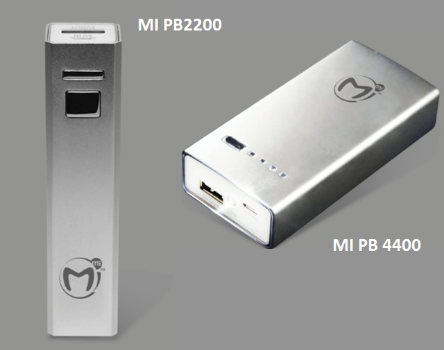 Mi PowerBank 2200 and 4400