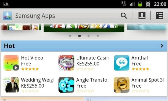 Samsung Apps mobile