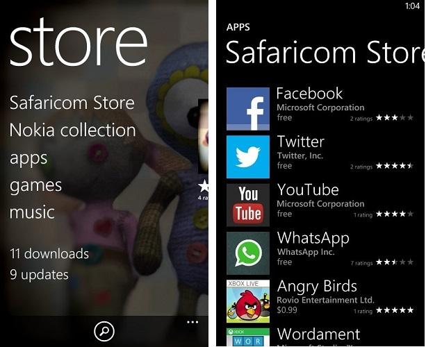 Safaricom Store Windows phone