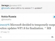 Windows phone 7.8 update