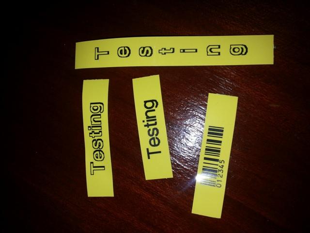 Epson LW-400 labels