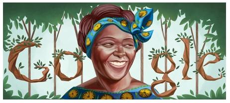 Wangare Maathai Google Doodle
