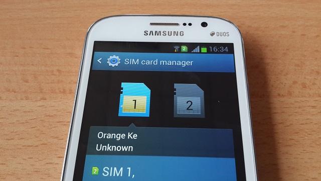 Galaxy Grand SIM manager
