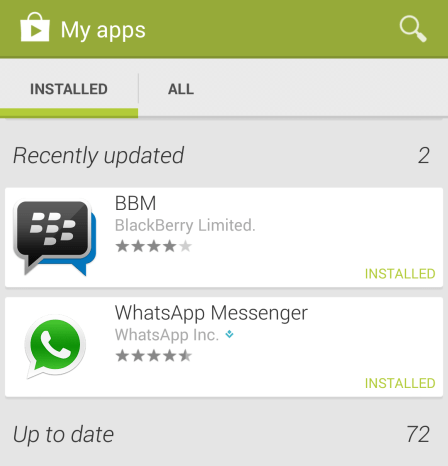 bbm for android updated