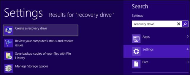 Create Recovery Drive