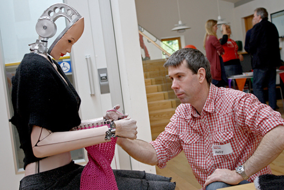 Artist and Inventor Andy Noyes with the Roboknit