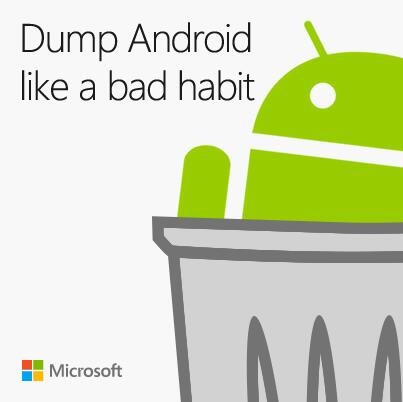 Trolling Android Microsoft Style