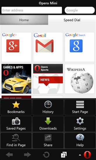 opera mini for windows phone