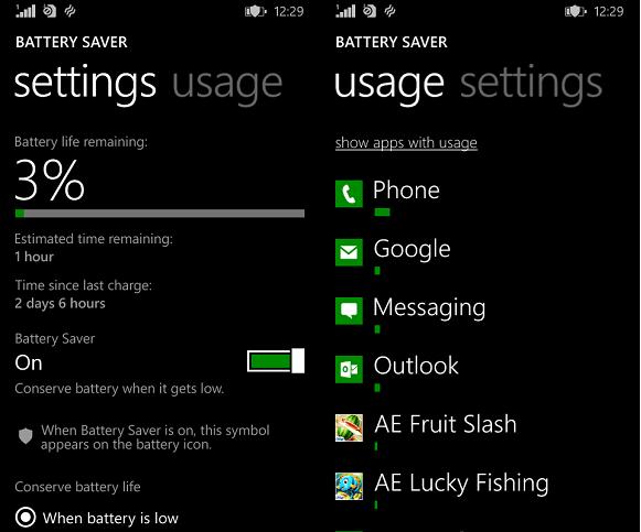Lumia 530 battery