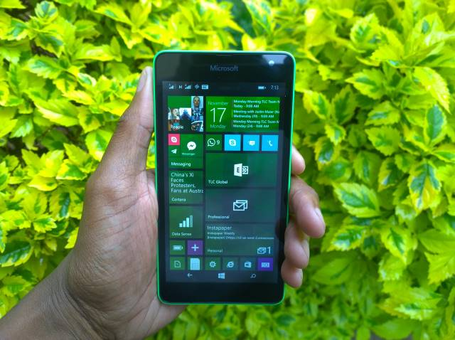 Lumia 535 has a 5 inch screen