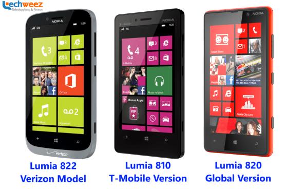 Lumia 820, Lumia 810, lumia 822
