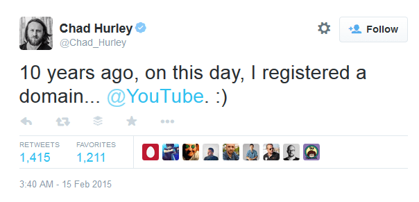 chad hurley youtube at 10