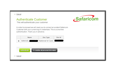 Safaricom store prompt