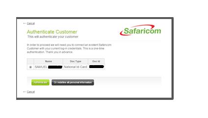 Safaricom store prompt