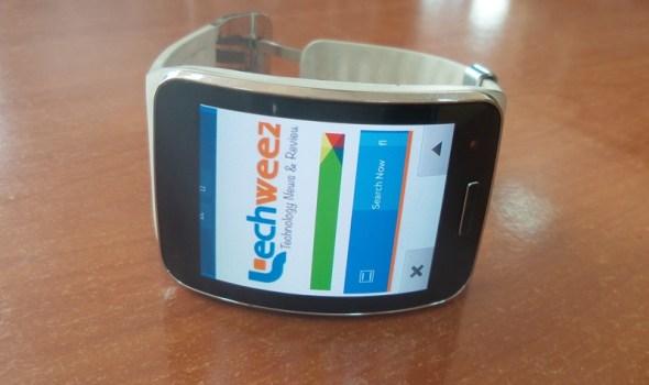 Browser on Samsung Gear S - Techweez