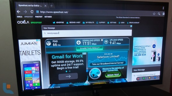 Safaricom Big Box - LTE internet speed test