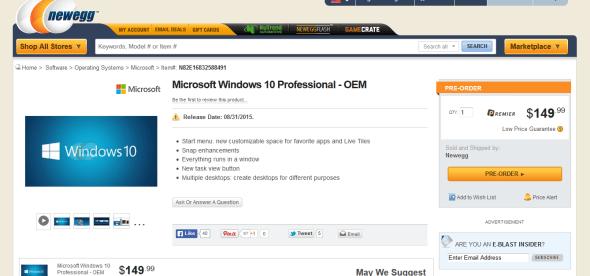 Windows 10 Price Newegg