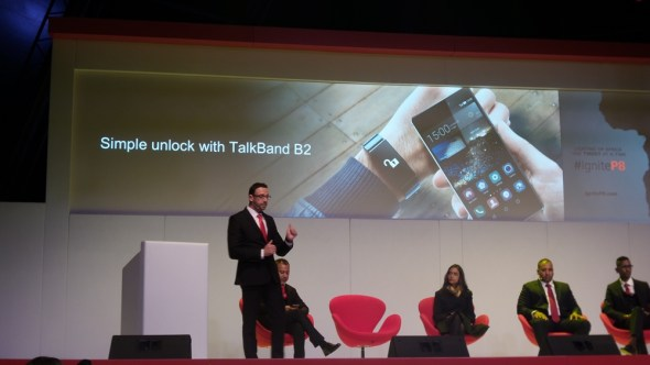 Jacob van Zyl, Huawei's Director of Product Marketing for the Eastern and Sothern Africa region goes through the Huawei P8's features during the launch in Johannesburg
