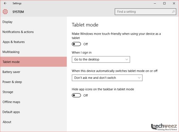 windows 10 tablet mode - techweez