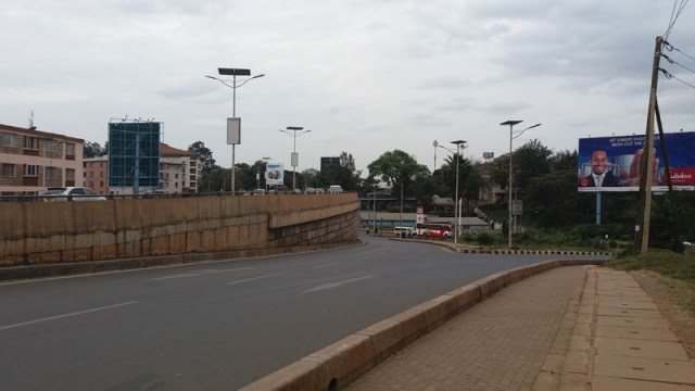 Sample photo taken with the Galaxy J5 at the Museum Hill interchange in Nairobi