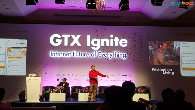 Robert Scoble talking about the reality of the cloud through the Internet of Things at a GITEX Ignite session