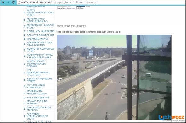 Access Kenya traffic cameras
