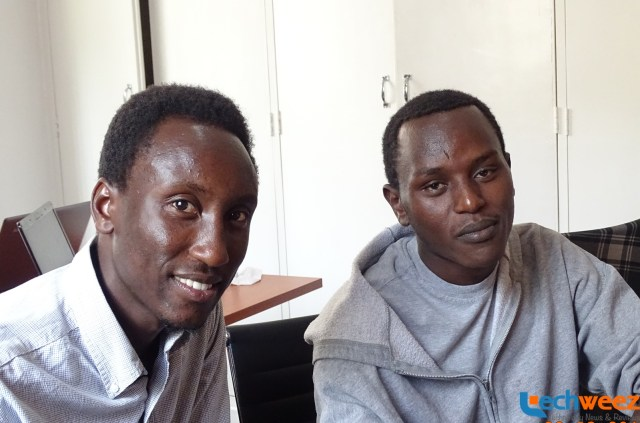 The part of team behind Airklip, Maxwell (left) and Brian Ondari