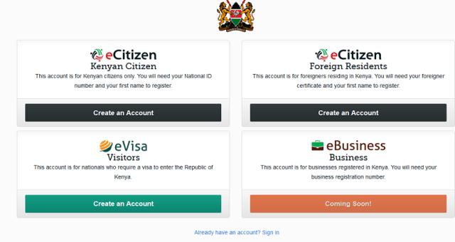 Ecitizen register
