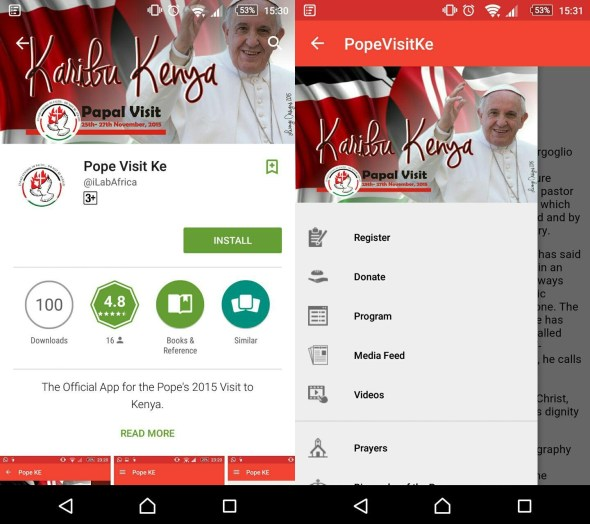 Pope Visit KE