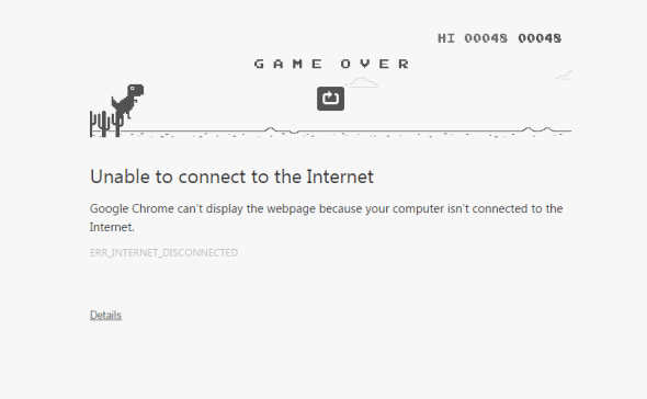 T-rex Chrome game