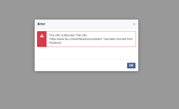 Facebook blocking Tsu links