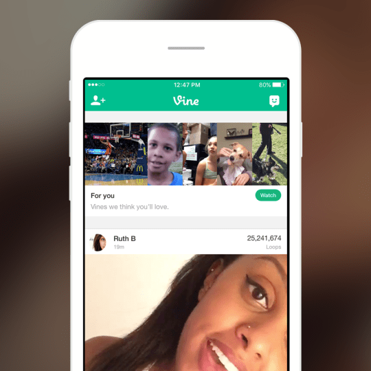 vine personalized channels