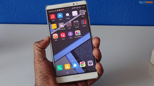 Huawei's EMUI launcher lacks an app drawer