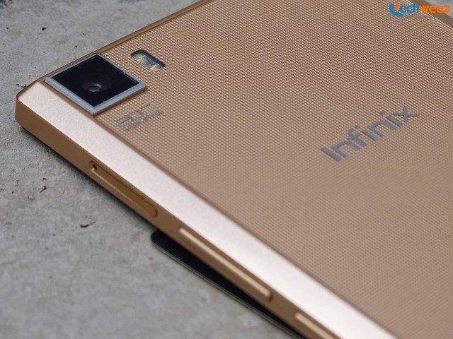 Infinix Zero 3 - Camera, microSD card slot, volume rocker and power button