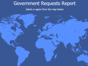 facebook government requests report