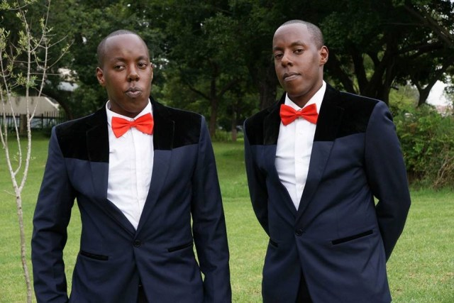 Edwin Mbugua on the left and his brother Anthony Muraya
