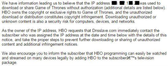 HBO warning