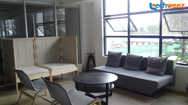 One of the lounge areas available